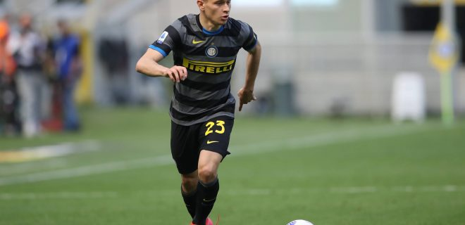 Milan, Italy, 25th April 2021. Nicola Barella of Internazionale during the Serie A match at Giuseppe Meazza, Milan. Picture credit should read: Jonathan Moscrop / Sportimage PUBLICATIONxNOTxINxUK SPI-1015-0054