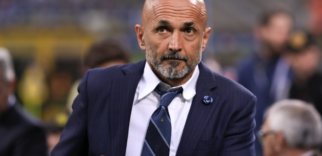 Italy, Milan, may 26 2019: Spalletti Luciano, fc Inter manager, moves to the bench during football match FC INTER vs EMPOLI, Serie A Tim 2018/2019 day38, San Siro stadium