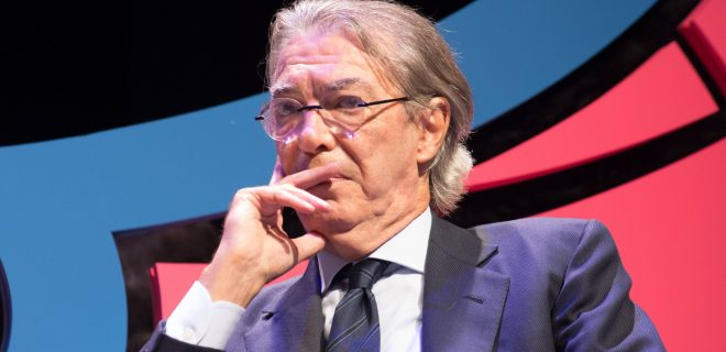 October 12, 2018 - Trento, Italy - Massimo Moratti attends the Il Festival dello in Trento, Italy, on 12 Otcober 2018. From 11 to 14 October 2018 the first edition of the Festival of Sport, which will have a national and international dimension, thanks to the caliber of the expected guests and the topics covered. The organizers are the first Italian sports daily, La Gazzetta dello Sport, and Trentino, under the patronage of Coni and the Italian Paralympic Committee. First Edition Of The Festival Of Sport In Trento PUBLICATIONxINxGERxSUIxAUTxONLY - ZUMAn230 20181012_zaa_n230_845 Copyright: xMassimoxBertolinix