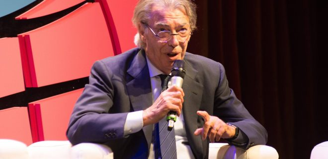 October 12, 2018 - Trento, Italy - Massimo Moratti attends the Il Festival dello in Trento, Italy, on 12 Otcober 2018. From 11 to 14 October 2018 the first edition of the Festival of Sport, which will have a national and international dimension, thanks to the caliber of the expected guests and the topics covered. The organizers are the first Italian sports daily, La Gazzetta dello Sport, and Trentino, under the patronage of Coni and the Italian Paralympic Committee. First Edition Of The Festival Of Sport In Trento PUBLICATIONxINxGERxSUIxAUTxONLY - ZUMAn230 20181012_zaa_n230_847 Copyright: xMassimoxBertolinix