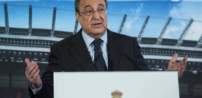 A file picture shows Real Madrid s president Florentino Perez during a press conference, PK, Pressekonferenz back in 2015 reissued 01 April 2021. Florentino Perez has demanded the Electoral Board to start the procedure to call for the club s presidential elections, after the Board of Directors meeting held 01 April 2021. Real Madrid starts procedure to call for presidential elections ACHTUNG: NUR REDAKTIONELLE NUTZUNG PUBLICATIONxINxGERxSUIxAUTxONLY Copyright: xRodrigoxJimenezx HI7582 20210401-637528862378621640