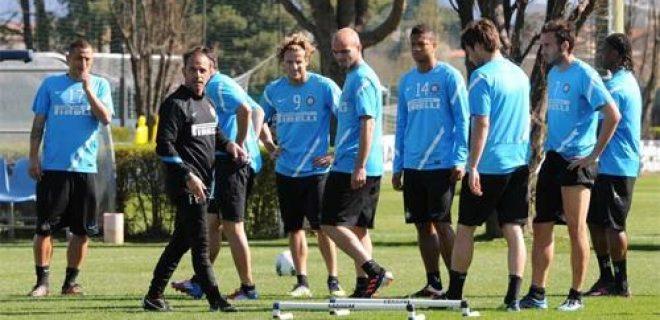 Allenamento Inter 30 marzo 2012