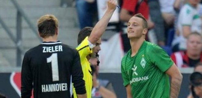 Arnautovic red card vs Hamburg