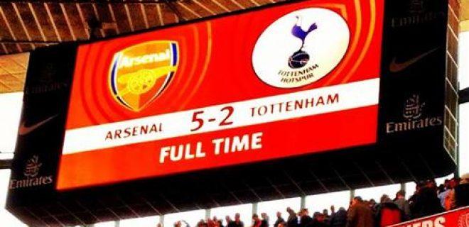 Arsenal-Tottenham 5-2