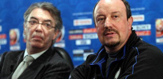Benitez-Moratti conferenza