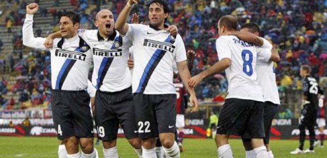 Bologna-Inter 09 esultanza gol Milito