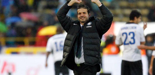 Bologna-Inter 16 esultanza Stramaccioni