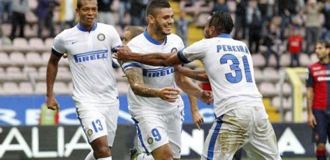 Cagliari-Inter esultanza Icardi