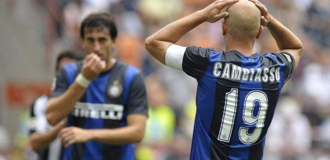 Cambiasso delusione Inter-Siena 0-2