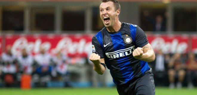 Cassano Inter-Roma esultanza