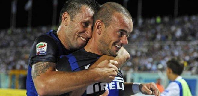 Cassano Sneijder Pescara-Inter