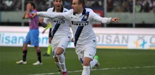 Catania-Inter esultanza Palacio