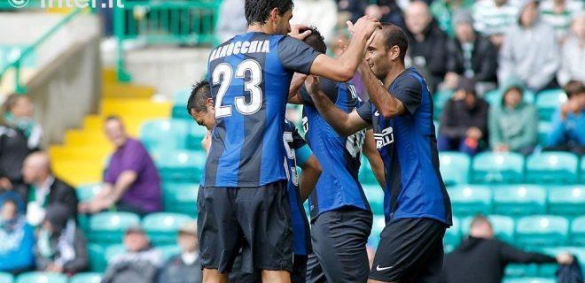 Celtic-Inter esultanza gol