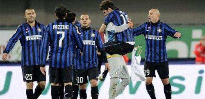 Chievo-Inter festeggiamenti