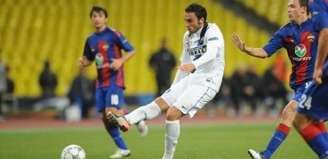 Cska Mosca-Inter Pazzini infortunio