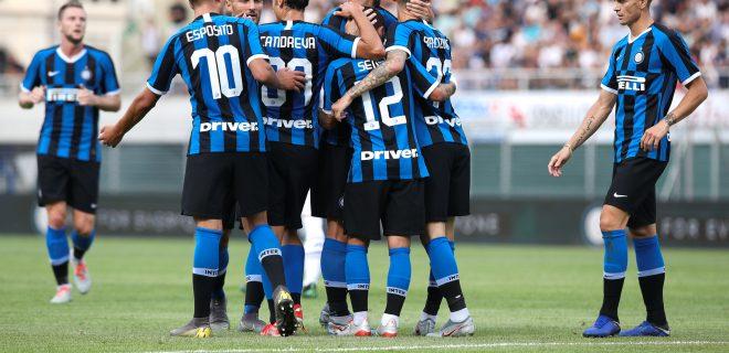Switzerland, Lugano, july 14 2019:   during friendly football match LUGANO FC vs INTER FC, Cornaredo stadium