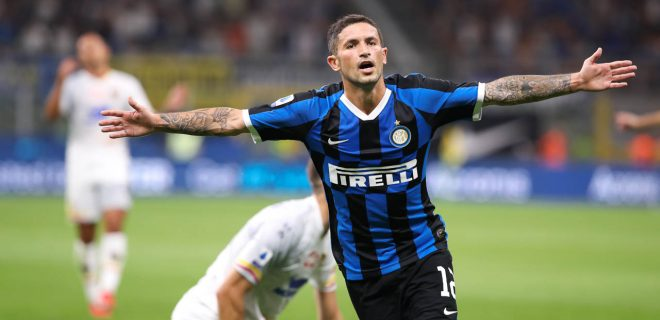 Italy, Milan, august 26 2019:  during football match FC INTER vs LECCE, Italy League Serie A 2019/2020 day1, San Siro stadium