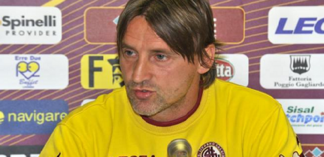 Davide Nicola conferenza stampa Livorno