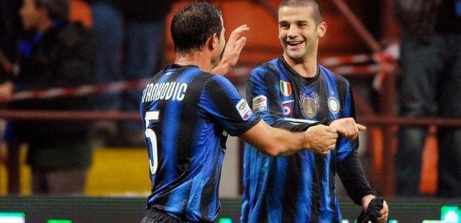 Dejan Stankovic e Cristian Chivu