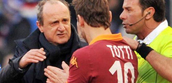 Delio Rossi Totti polemica Sampdoria-Roma