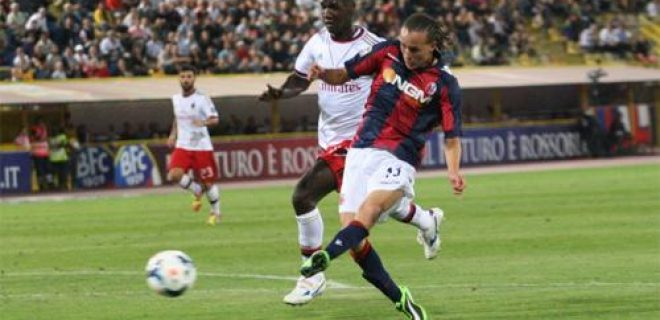 Diego Laxalt Bologna-Milan gol