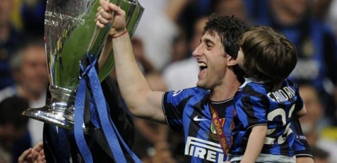 Diego Milito Inter Champions