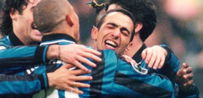 Djorkaeff Ronaldo gol Inter-Juve 1998
