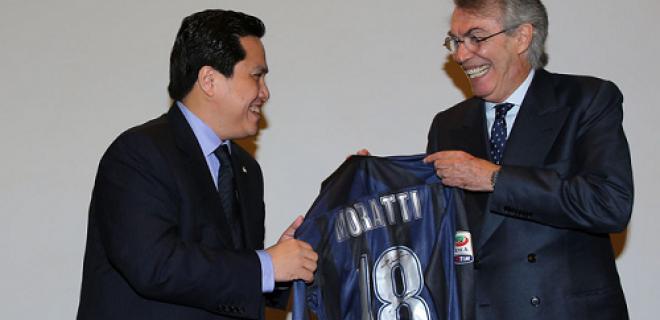 Erick Thohir Massimo Moratti maglia 18