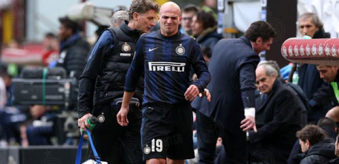Esteban Cambiasso Inter-Catania infortunio