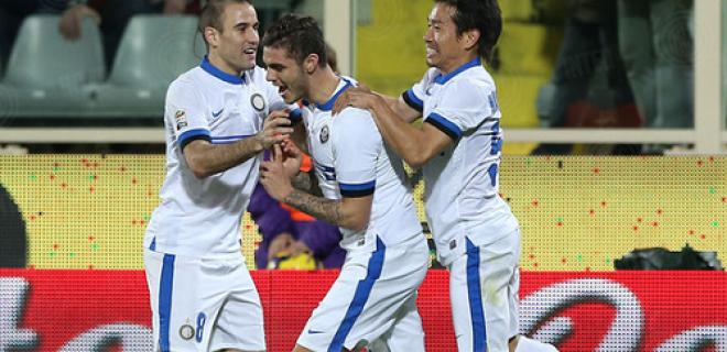 Esultanza Palacio Icardi Nagatomo Fiorentina-Inter