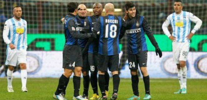 Esultanza finale Inter-Pescara