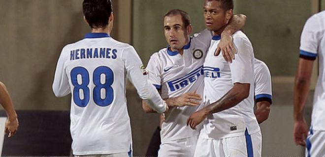 Esultanza gol Fiorentina-Inter