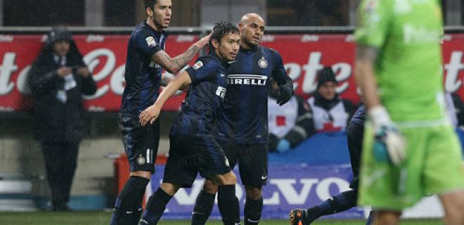 Esultanza gol Inter-Chievo