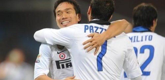 Genoa-Inter esultanza Nagatomo