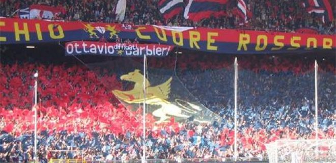 Genoa tifosi Ultras gradinata