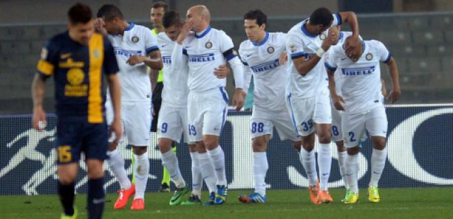 Hellas Verona-Inter esultanza