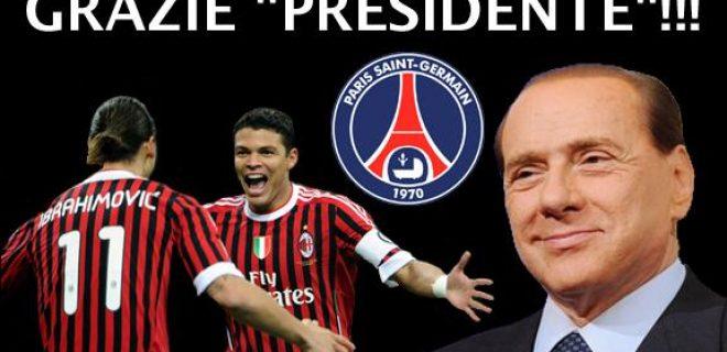 Ibra Thiago Silva grazie Presidente