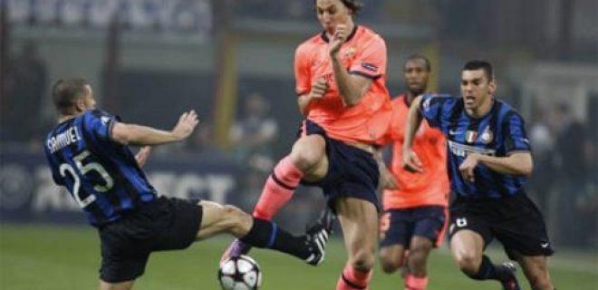 Ibrahimovic Inter-Barcellona 3-1