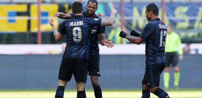 Icardi Rolando esultanza Inter-Cagliari