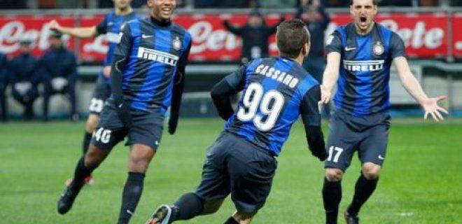 Inter-Chievo esultanza gol Cassano
