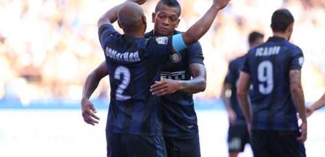 Inter-Cittadella abbraccio Guarin Jonathan