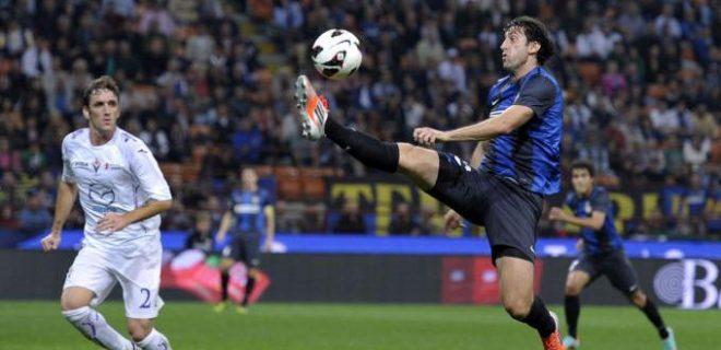 Inter-Fiorentina azione Milito