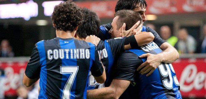 Inter-Fiorentina festeggiamenti gol