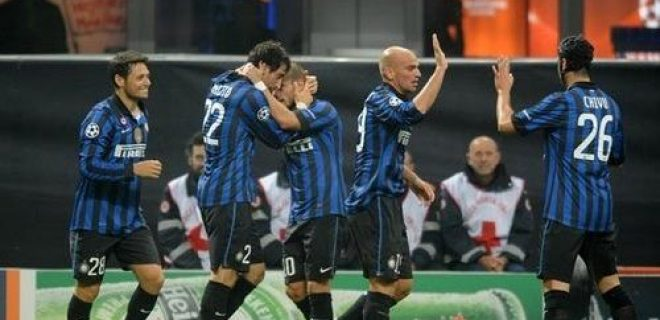 Inter-Lille 2-1 esultanza squadra (2)