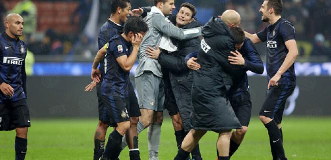 Inter-Milan esultanza derby fine partita