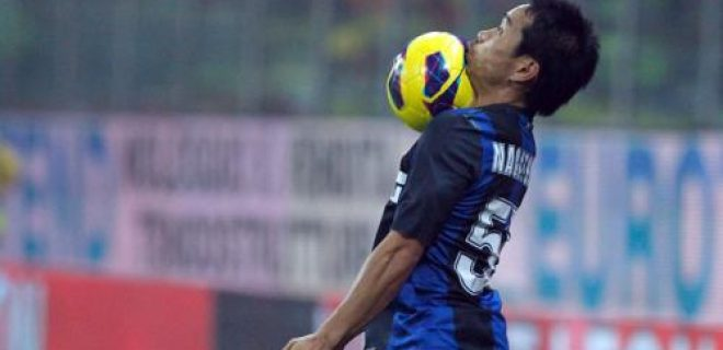 Inter-Parma Nagatomo pallonata