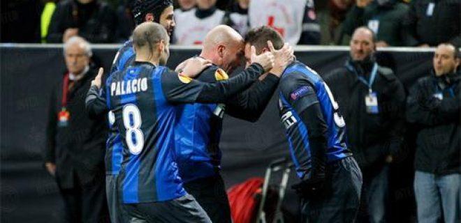 Inter-Tottenham esultanza Cassano Cambiasso Palacio