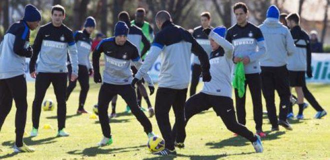 Inter allenamento 11 dicembre 2012