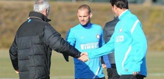 Inter allenamento 11 gennaio 2012