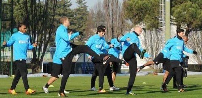 Inter allenamento 12 gennaio 2012